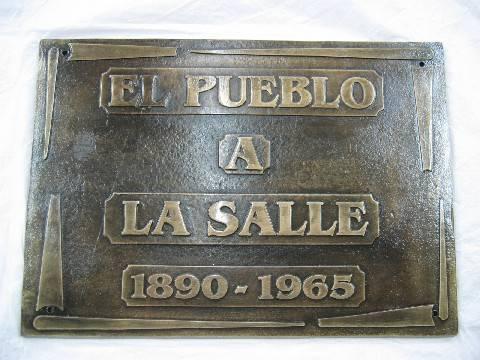 """Placa Fundición """"La Salle"""""""
