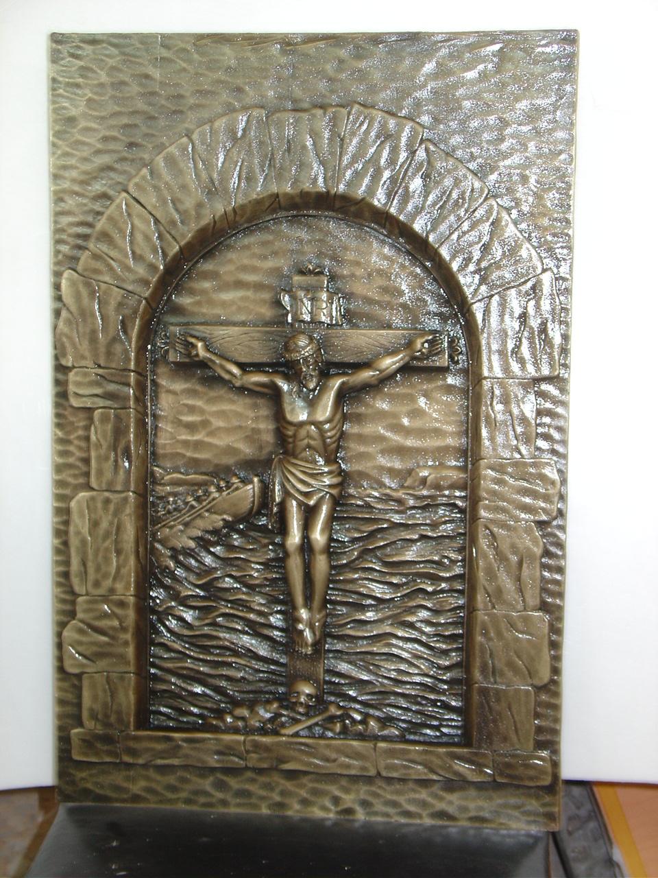 """Placa Fundición """"Cristo"""""""