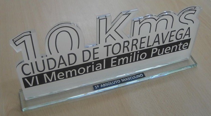 "Trofeo Metacrilato ""10 Kms"""