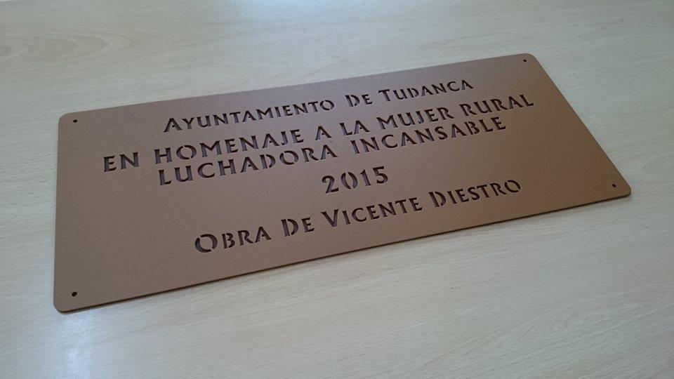 "Placa Forja Recorte ""Mujer Rural"""
