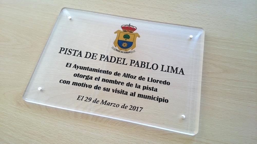 "Placa Metacrilato ""Pista Padel"""