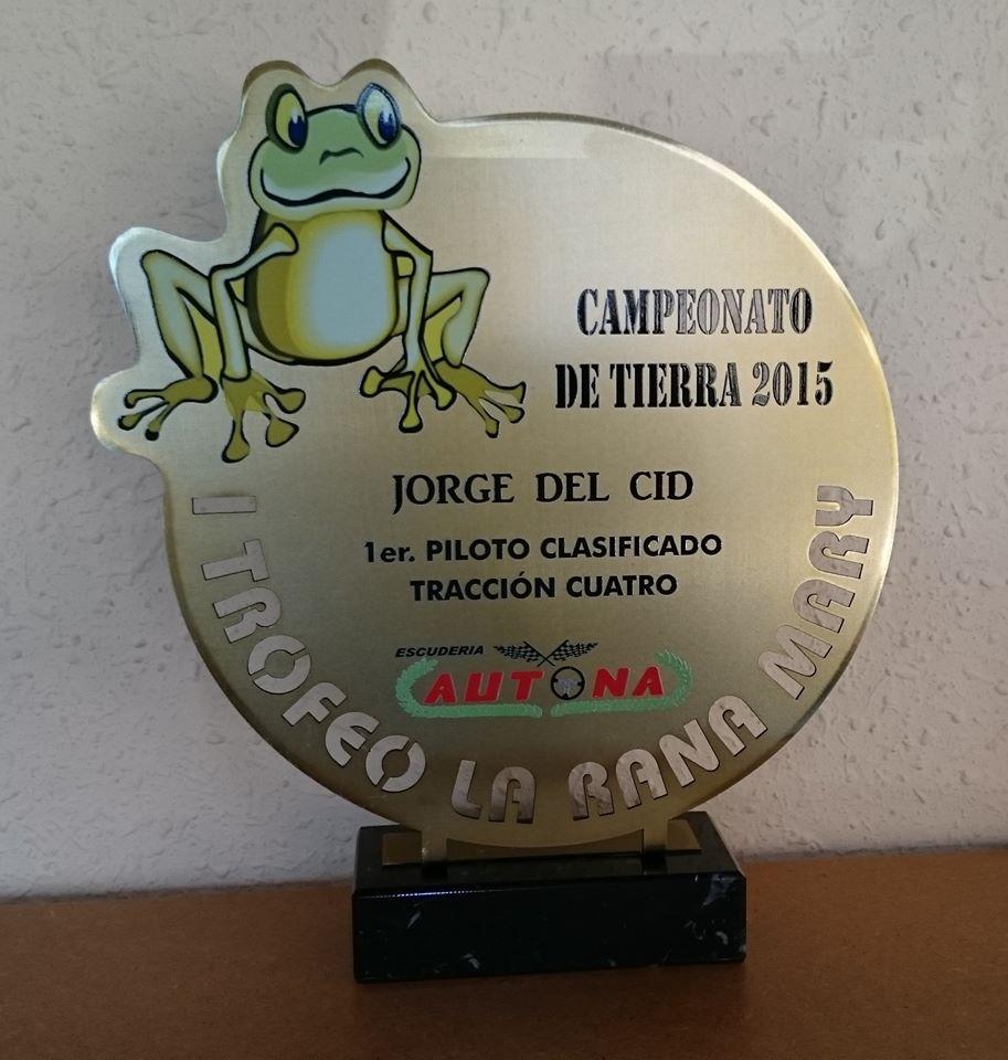 "Trofeo Metal Recorte ""Rana"""