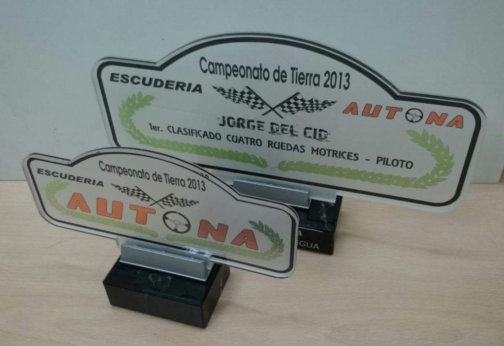 """Trofeo Metacrilato """"Rallye"""""""